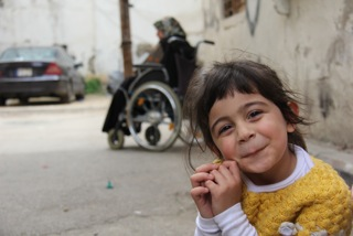 Delightful Syrian refugee girl I met in Beirut.